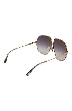 Женские солнцезащитные очки TOM FORD золотого цвета, арт. TF785 28B | Фото 4