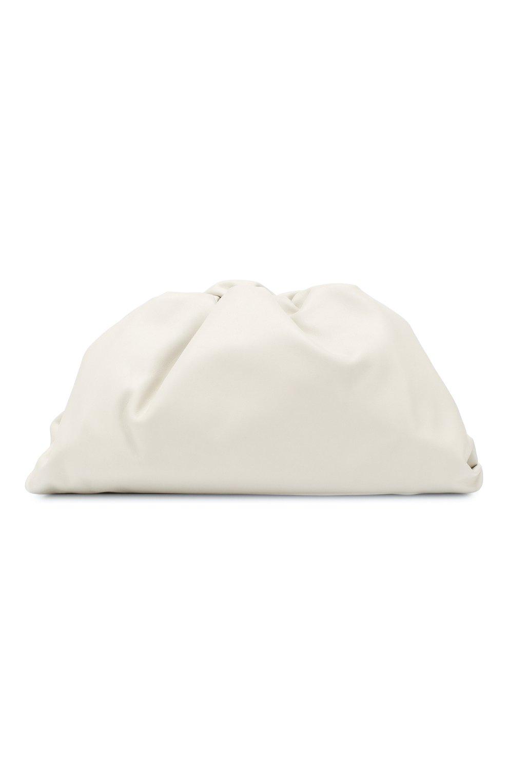 Женский клатч pouch BOTTEGA VENETA белого цвета, арт. 576227/VCP40   Фото 1