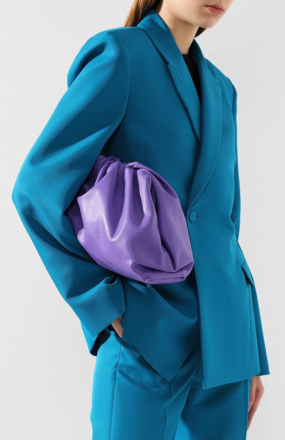 Женский клатч pouch BOTTEGA VENETA сиреневого цвета, арт. 576227/VCP40 | Фото 2