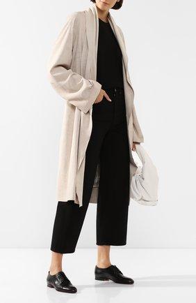 Женские кожаные дерби SANTONI черного цвета, арт. WUSM56701BI3SLGAN01 | Фото 2