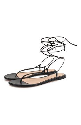 Женские кожаные сандалии GIANVITO ROSSI черного цвета, арт. G31714.05CU0.NAPNER0 | Фото 1