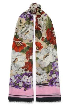 Мужские шарф DOLCE & GABBANA розового цвета, арт. FS184A/GDS66 | Фото 1