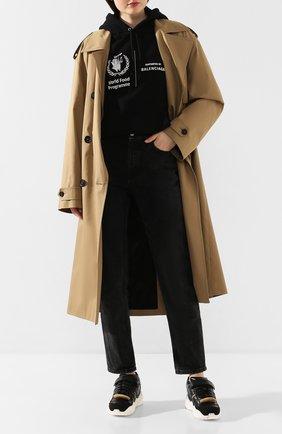 Женские кожаные кроссовки retro fit MAISON MARGIELA черного цвета, арт. S58WS0120/P2082 | Фото 2