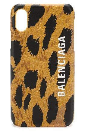 Мужской чехол для iphone x/xs BALENCIAGA бежевого цвета, арт. 585828/1BWJ0 | Фото 1