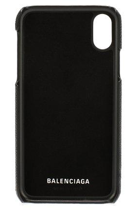 Мужской чехол для iphone x/xs BALENCIAGA черного цвета, арт. 585828/1IZD0 | Фото 2