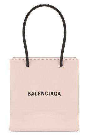 Женская сумка-тоут shopping xxs BALENCIAGA светло-розового цвета, арт. 597858/0AI2N | Фото 1