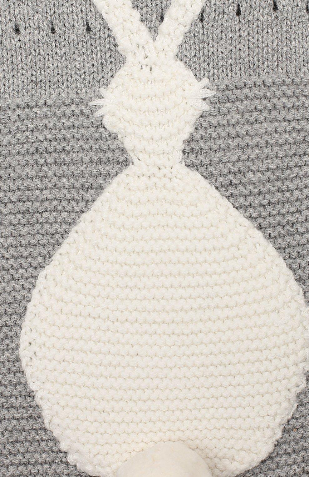 Детское хлопковое боди STELLA MCCARTNEY серого цвета, арт. 566679/S0M13 | Фото 3
