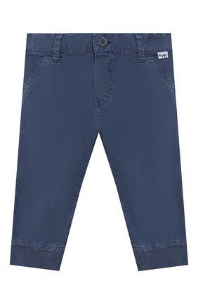 Детские хлопковые брюки IL GUFO синего цвета, арт. P20PL050C6002/12M-18M | Фото 1