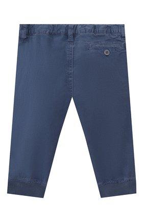 Детские хлопковые брюки IL GUFO синего цвета, арт. P20PL050C6002/12M-18M | Фото 2
