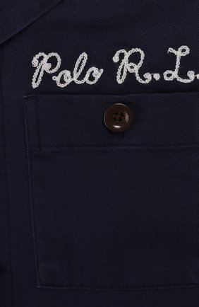 Детский хлопковый комбинезон POLO RALPH LAUREN синего цвета, арт. 322785730   Фото 3