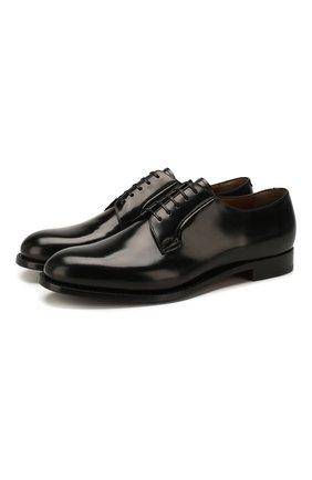 Мужской кожаные дерби SILVANO SASSETTI черного цвета, арт. S1PLAT0415GR0ISNER0 | Фото 1