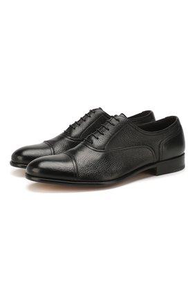 Мужские кожаные оксфорды MORESCHI черного цвета, арт. 42166/162 | Фото 1