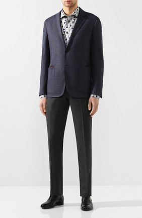 Мужские кожаные оксфорды MORESCHI черного цвета, арт. 42166/162 | Фото 2