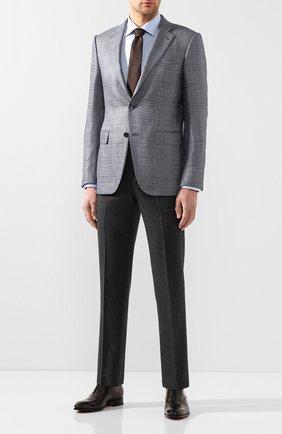 Мужские кожаные оксфорды SANTONI темно-серого цвета, арт. MCCR12474JC6I0BRG45 | Фото 2