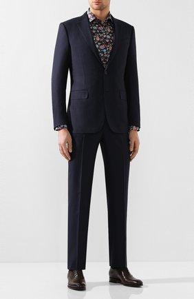 Мужские кожаные оксфорды SANTONI темно-коричневого цвета, арт. MCCR12474JC6I0BRT53 | Фото 2