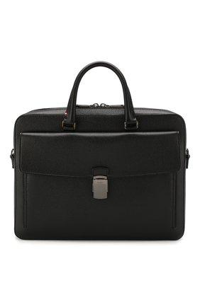 Мужская кожаная сумка для ноутбука gherman BALLY черного цвета, арт. GHERMAN SM | Фото 1