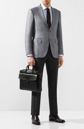 Мужская кожаная сумка для ноутбука gherman BALLY черного цвета, арт. GHERMAN SM | Фото 2
