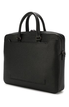 Мужская кожаная сумка для ноутбука gherman BALLY черного цвета, арт. GHERMAN SM | Фото 3