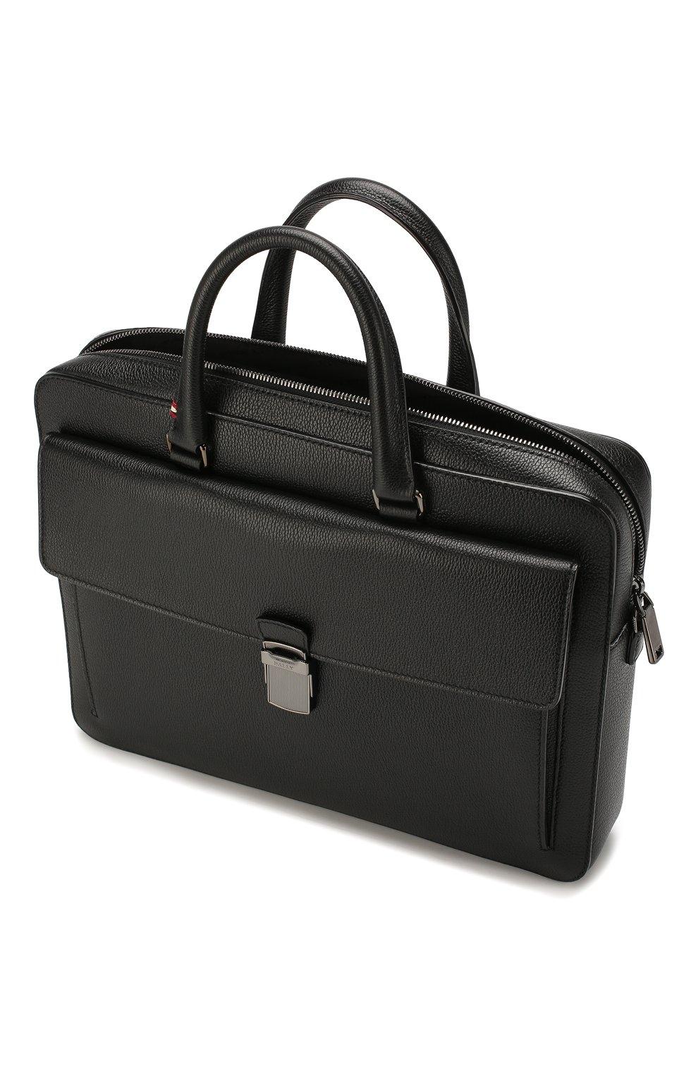 Мужская кожаная сумка для ноутбука gherman BALLY черного цвета, арт. GHERMAN SM | Фото 4