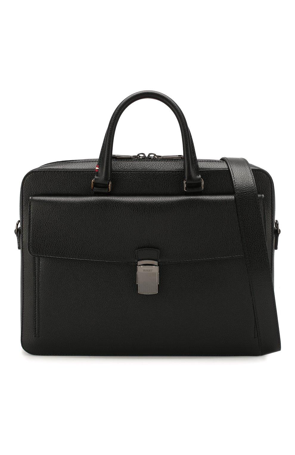 Мужская кожаная сумка для ноутбука gherman BALLY черного цвета, арт. GHERMAN SM | Фото 6