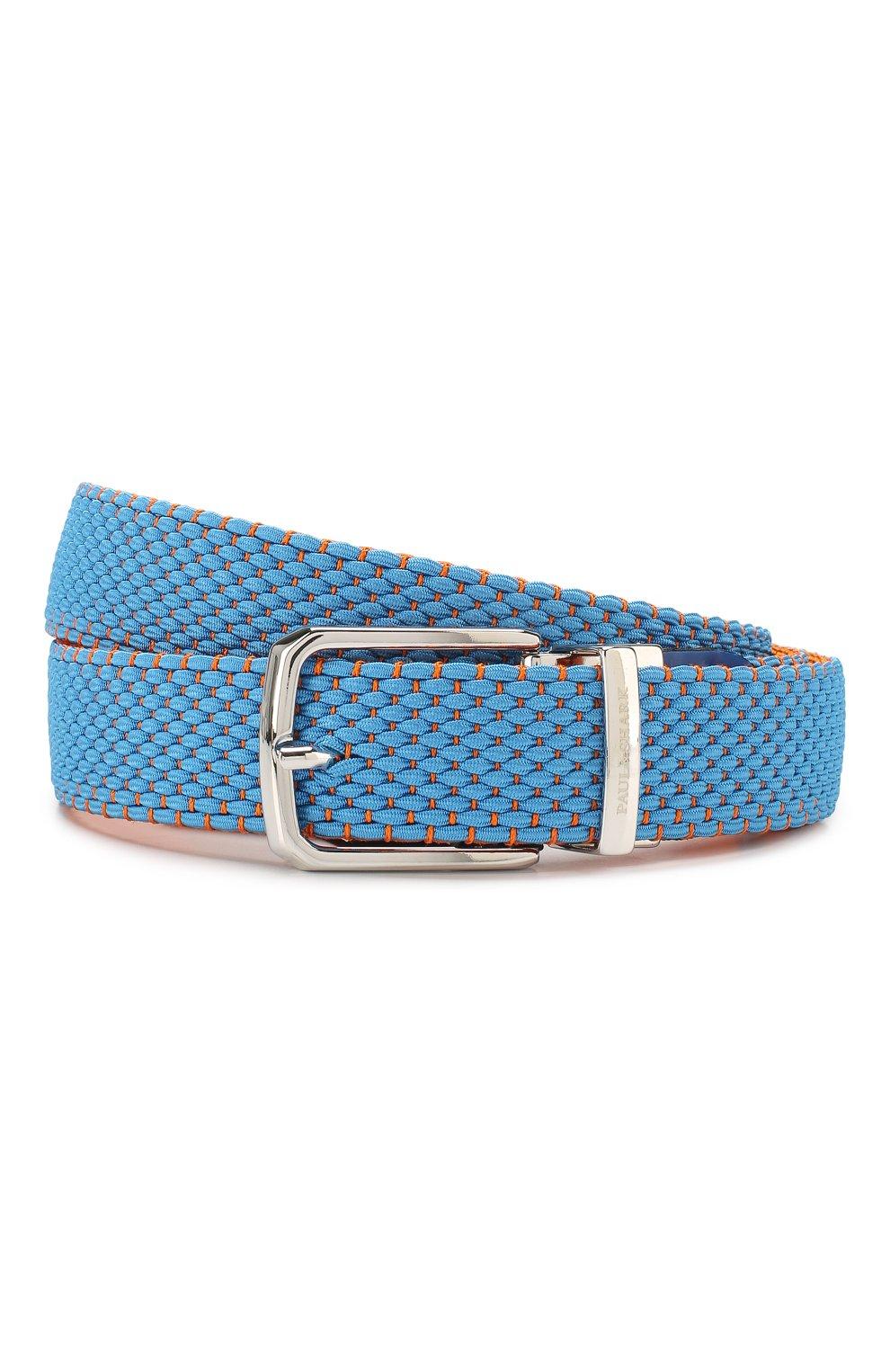 Мужской текстильный ремень PAUL&SHARK голубого цвета, арт. C0P6001   Фото 1 (Материал: Текстиль, Вискоза; Случай: Повседневный)