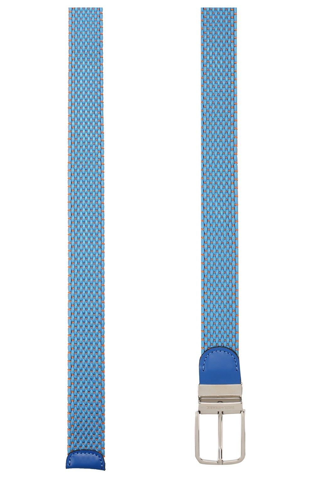 Мужской текстильный ремень PAUL&SHARK голубого цвета, арт. C0P6001   Фото 2 (Материал: Текстиль, Вискоза; Случай: Повседневный)