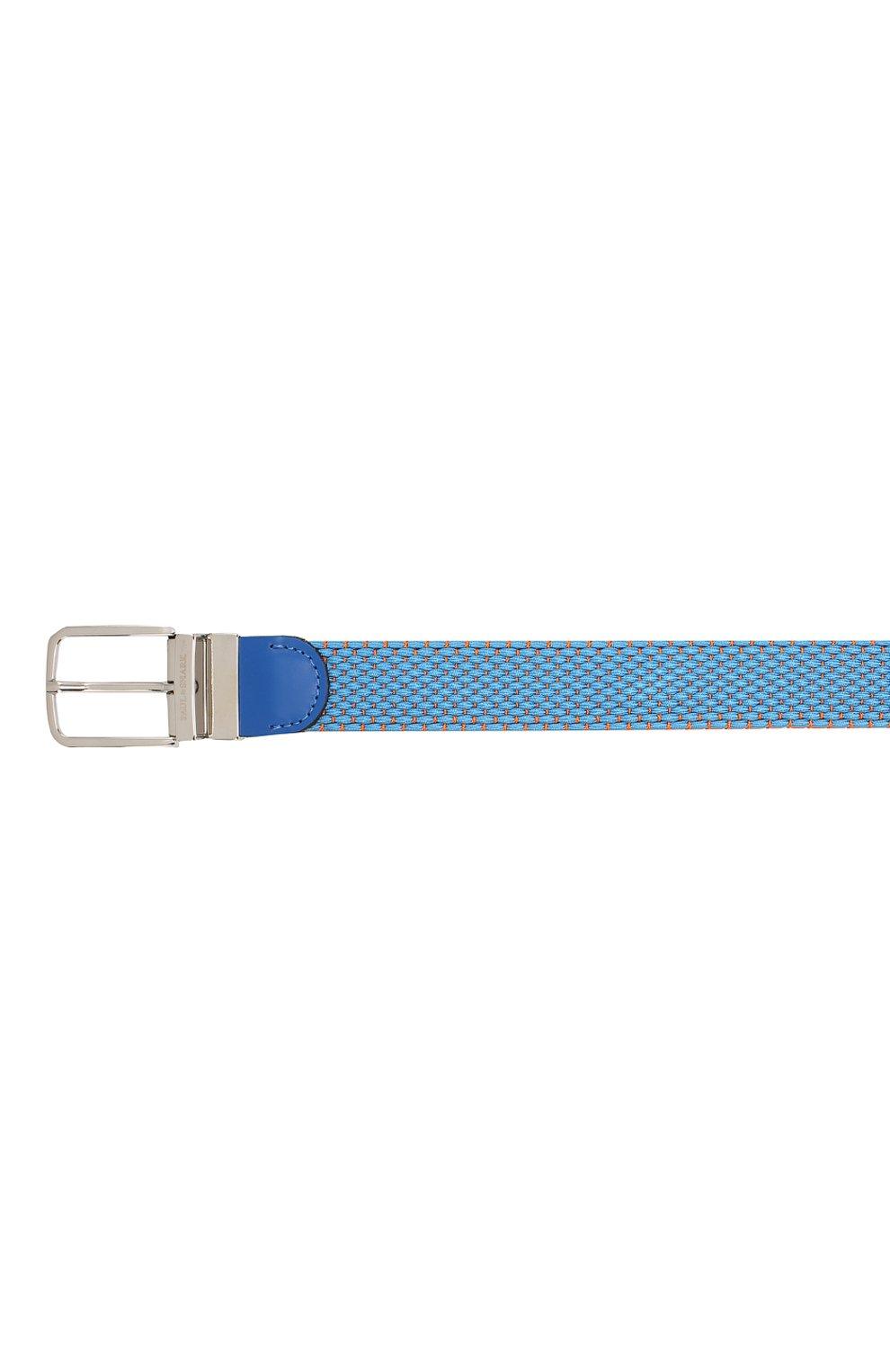 Мужской текстильный ремень PAUL&SHARK голубого цвета, арт. C0P6001   Фото 3 (Материал: Текстиль, Вискоза; Случай: Повседневный)