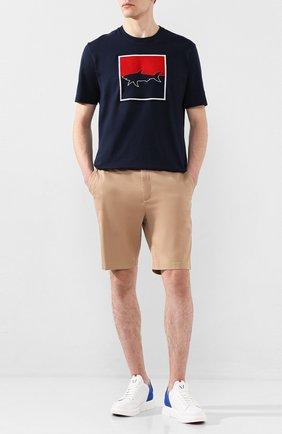 Мужские кожаные кеды V DESIGN белого цвета, арт. MSA03 | Фото 2