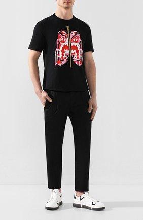 Мужские кожаные кеды V DESIGN белого цвета, арт. MST02 | Фото 2