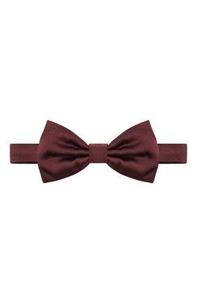 Мужской шелковый галстук-бабочка DOLCE & GABBANA бордового цвета, арт. GR053E/G0U05 | Фото 1