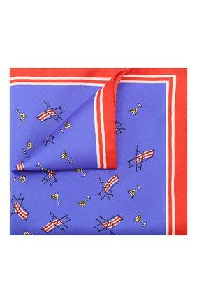 Мужской шелковый платок DOLCE & GABBANA синего цвета, арт. GR412E/G0T29 | Фото 1