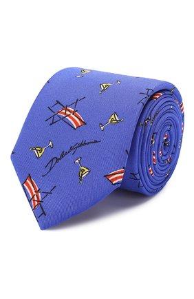 Мужской шелковый галстук DOLCE & GABBANA синего цвета, арт. GT149E/G0TDV | Фото 1