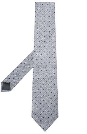 Мужской галстук из смеси льна и шелка ERMENEGILDO ZEGNA голубого цвета, арт. Z7E22/1L8 | Фото 2