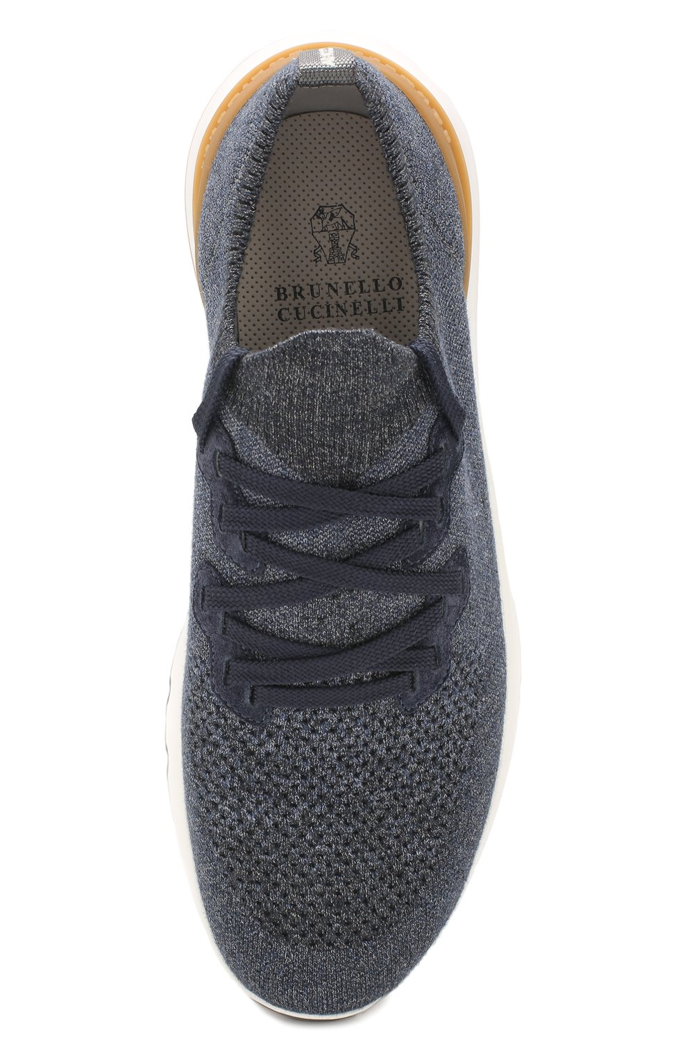 Мужские текстильные кроссовки BRUNELLO CUCINELLI синего цвета, арт. MZUKIS0250 | Фото 5