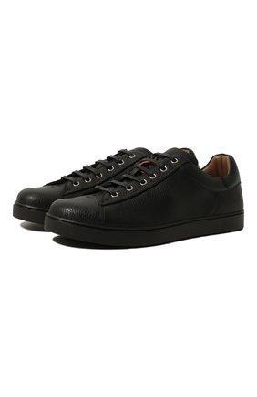 Мужские кожаные кеды GIANVITO ROSSI черного цвета, арт. S26340.M1BLK.B0XNER0 | Фото 1