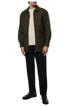 Мужские кожаные кеды GIANVITO ROSSI черного цвета, арт. S26340.M1BLK.B0XNER0 | Фото 2