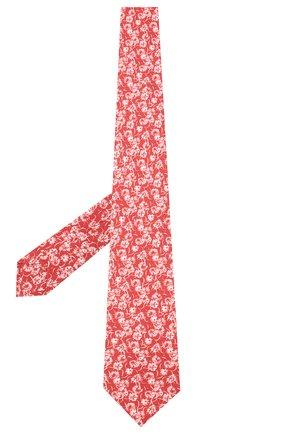 Мужской шелковый галстук LUIGI BORRELLI красного цвета, арт. LC80-B/TT9227 | Фото 2