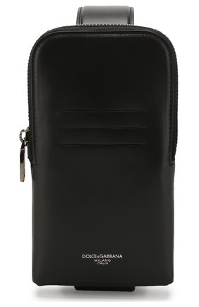 Мужского кожаный чехол для iphone DOLCE & GABBANA черного цвета, арт. BP2576/AJ806 | Фото 1