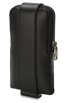 Мужского кожаный чехол для iphone DOLCE & GABBANA черного цвета, арт. BP2576/AJ806 | Фото 2