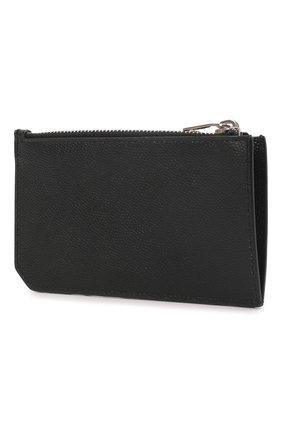 Мужской кожаный футляр для кредитных карт SAINT LAURENT черного цвета, арт. 609362/BTY0N | Фото 2