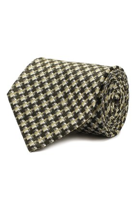 Мужской шелковый галстук TOM FORD зеленого цвета, арт. 7TF69/XT0 | Фото 1
