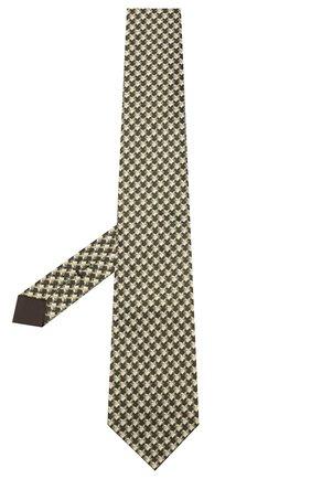 Мужской шелковый галстук TOM FORD зеленого цвета, арт. 7TF69/XT0 | Фото 2