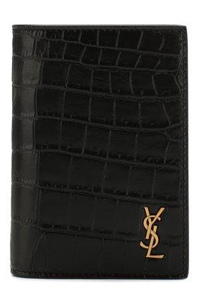 Мужской кожаное портмоне SAINT LAURENT черного цвета, арт. 607679/DZEDW | Фото 1
