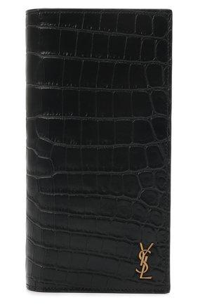 Мужской кожаное портмоне SAINT LAURENT черного цвета, арт. 607746/DZEDW | Фото 1