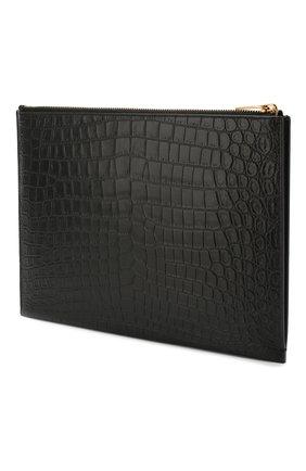 Мужская кожаный футляр для документов SAINT LAURENT черного цвета, арт. 607779/DZE0W | Фото 2