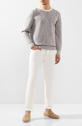 Мужские кожаные мокасины ALDO BRUE светло-бежевого цвета, арт. AB0010G-NS   Фото 2