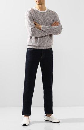 Мужские кожаные мокасины ALDO BRUE белого цвета, арт. AB0019J-VPV | Фото 2
