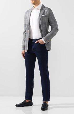 Мужские кожаные мокасины MORESCHI темно-синего цвета, арт. 90041969 | Фото 2