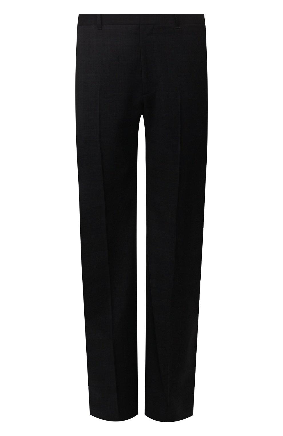 Мужские шерстяные брюки BALENCIAGA темно-синего цвета, арт. 601181/TGT01 | Фото 1