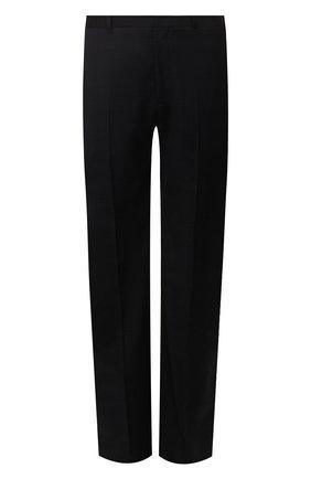 Мужской шерстяные брюки BALENCIAGA темно-синего цвета, арт. 601181/TGT01 | Фото 1